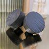 Rero oven musta puinen nuppivedin kovera- ja tasapintainen